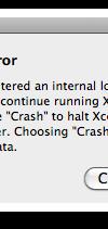 Xcode Internal Error