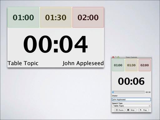 Speech Timer windows on Mac OS X