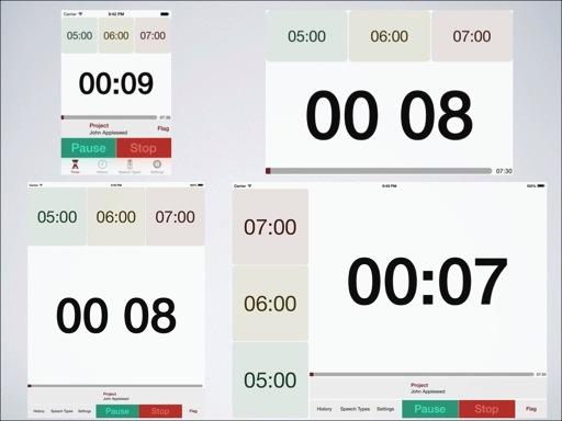 Speech timer orientations iphone ipad