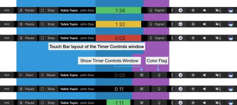 Speech Timer Touch Bar