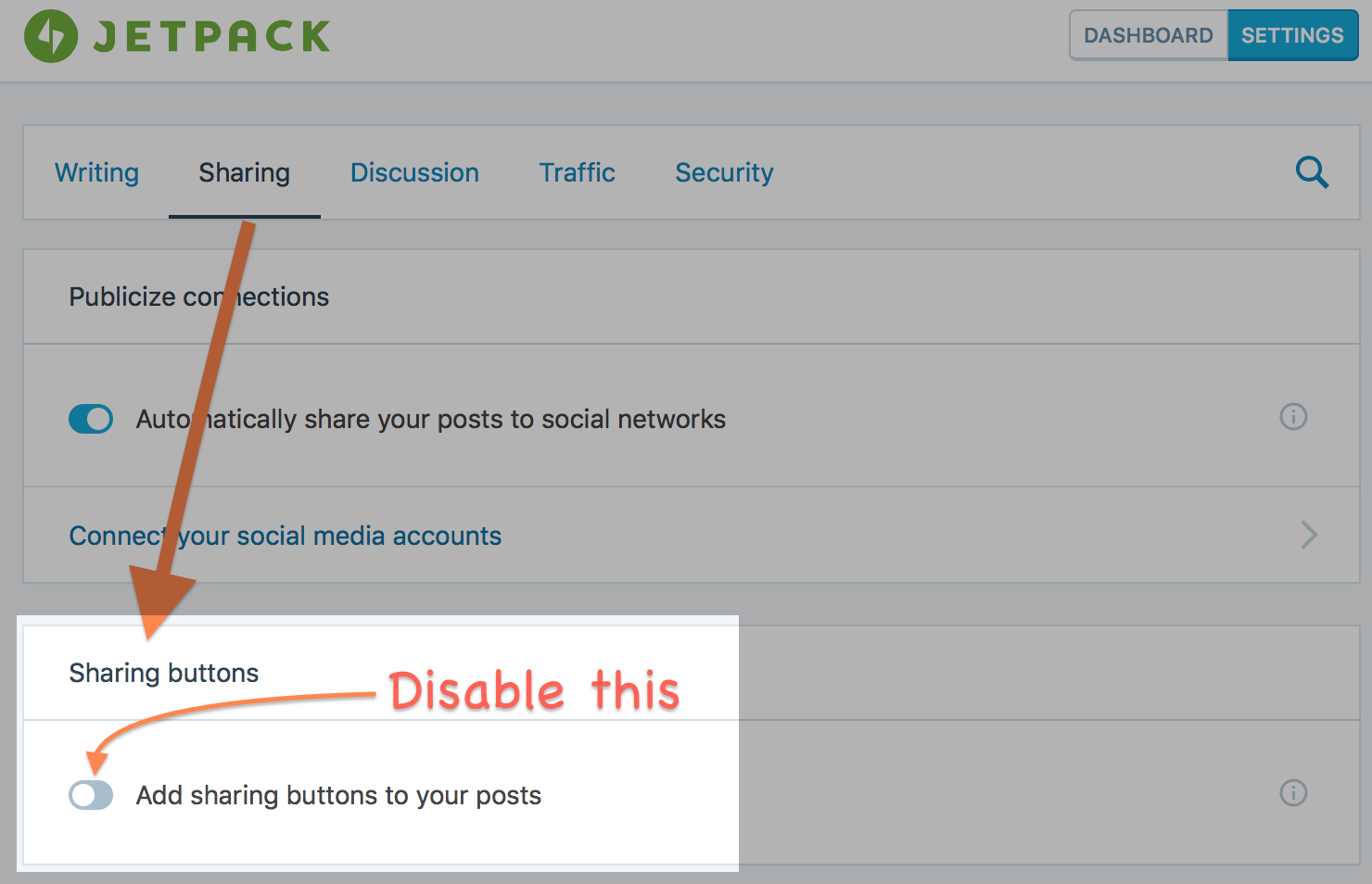 JetPack Sharing Disabled