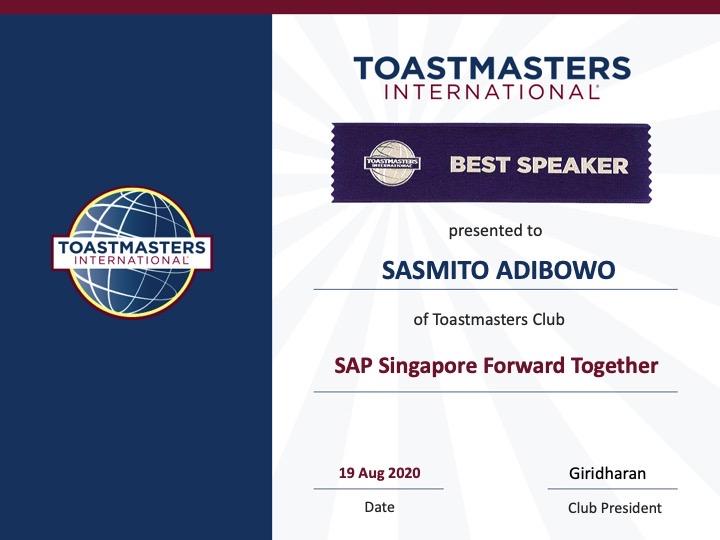 Best Speaker Award