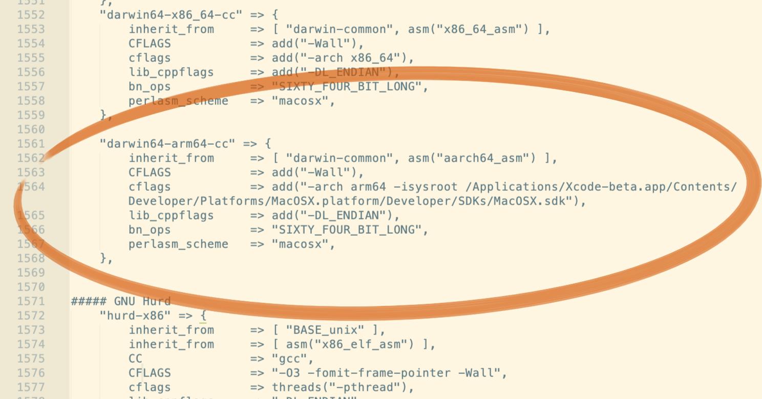 OpenSSL macOS ARM64 Configuration